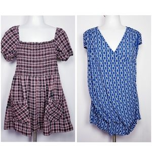 Torrid plaid and chain link tops size 1 bundle
